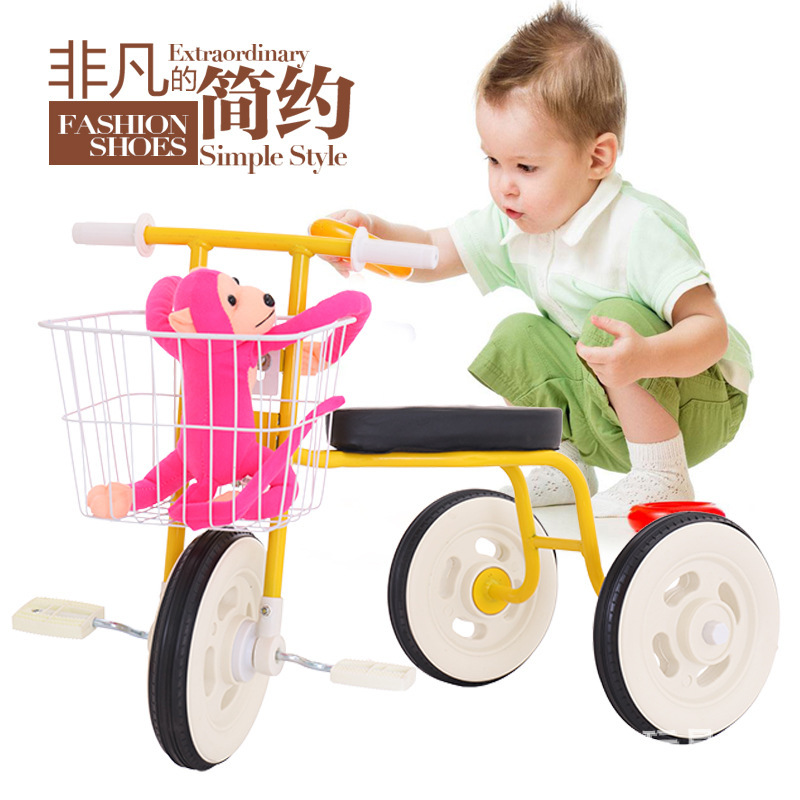 Children Kids 3 Wheel Bicycle Bike Tricycle Trike With Basket Ride On Scooter Outdoor Toys kid child 4 in 1 trike tricycle 3 wheel car indoor outdoor bicycle ride for 0 6years old