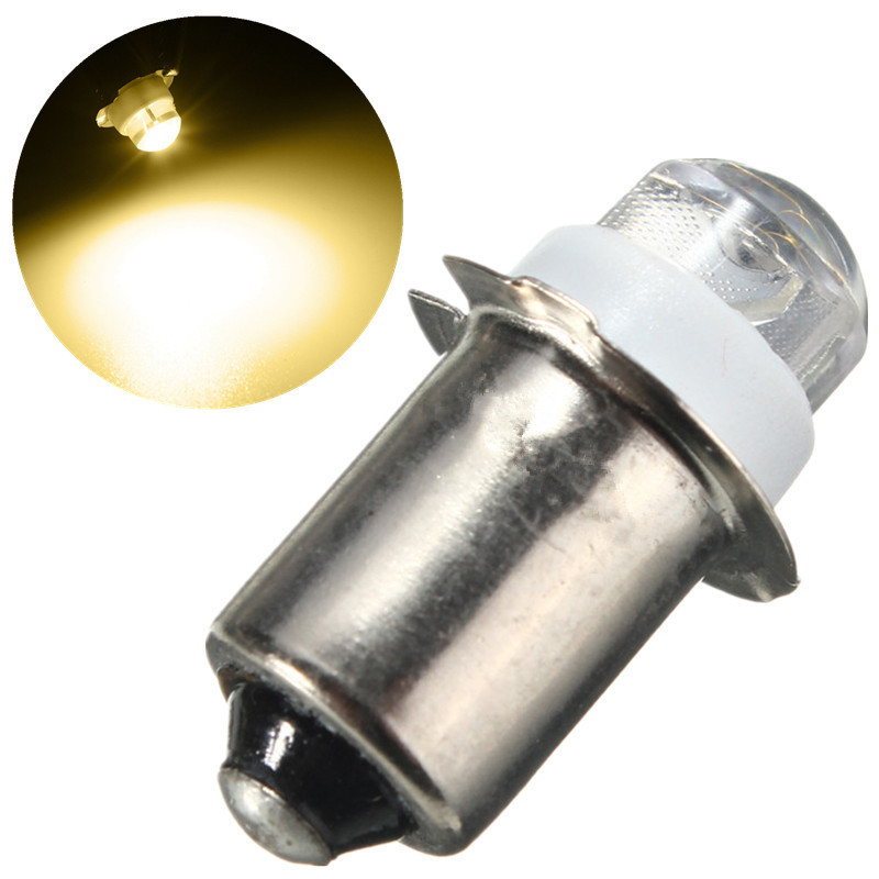 P13.5S PR2 0.5W LED Light Bulb For Focus Flashlight Replacement Bulb Torches Emergency Work Light Pure Warm White 3/4.5/6V