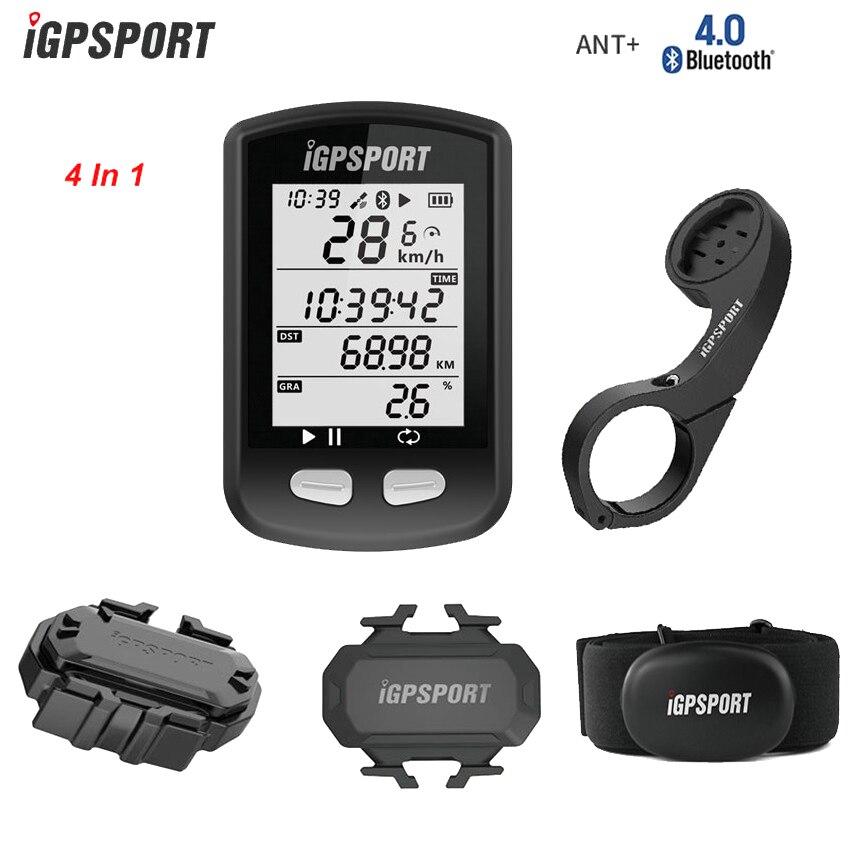 IGPSPORT Bike Cronometro Wireless GPS Della Bicicletta Cycling Computer Contachilometri w Frequenza Cardiaca/sensore di Velocità e Cadenza/Out-Front Mount