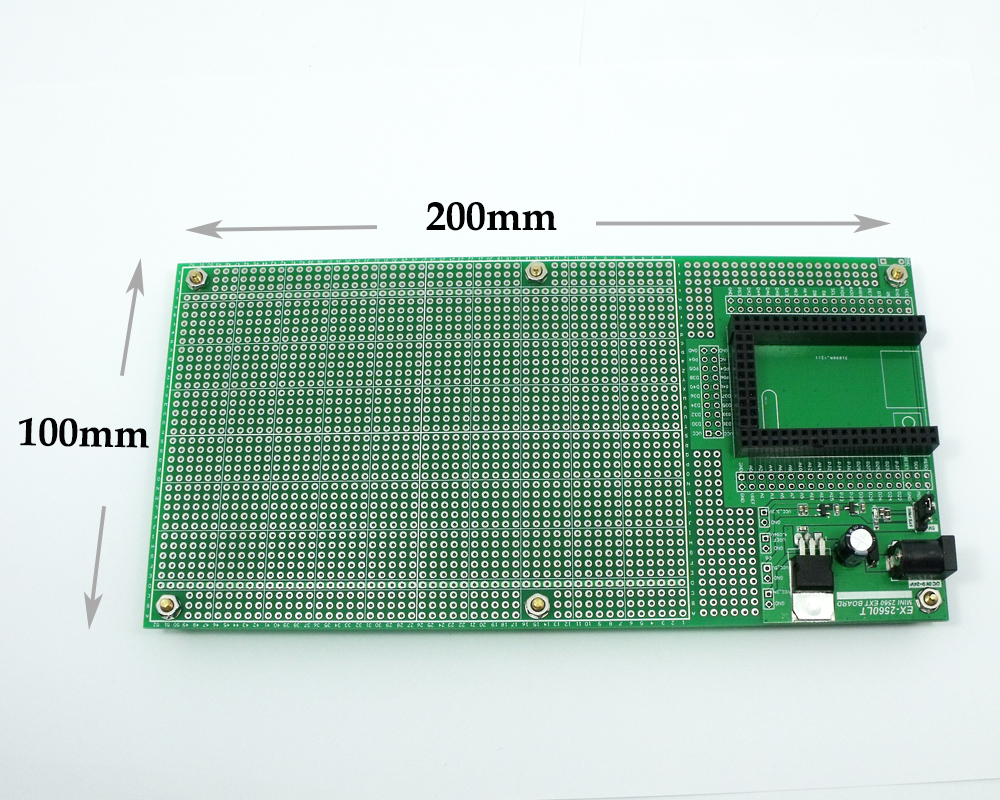Double Side Prototype PCB Breadboard DIY 100x200mm 4.096V for Arduino Mega mini 2560 dhl ems 200 pcs double side prototype pcb tinned universal board 4x6 4 6cm j33