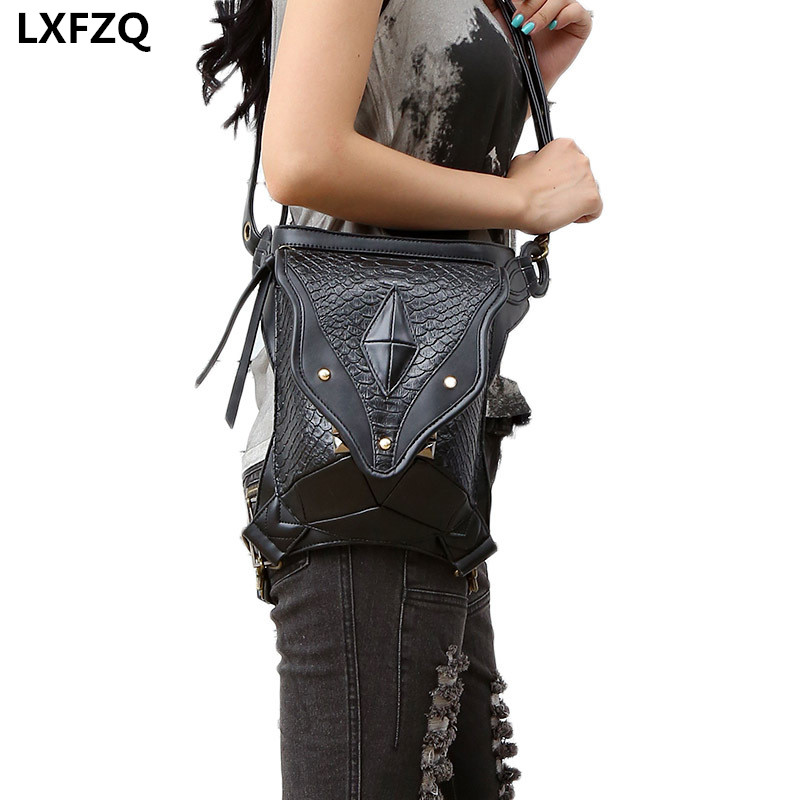NEW Steampunk soma Holster Protected Purse carteras mujer thigh Motora kājas Outlaw Pack plecu mugursoma sievietes soma Steam punk bag