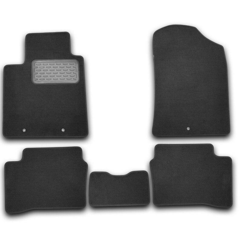 Tapis de sol intérieur pour KIA Picanto 2011->, est. .. 5 pièces (textile)