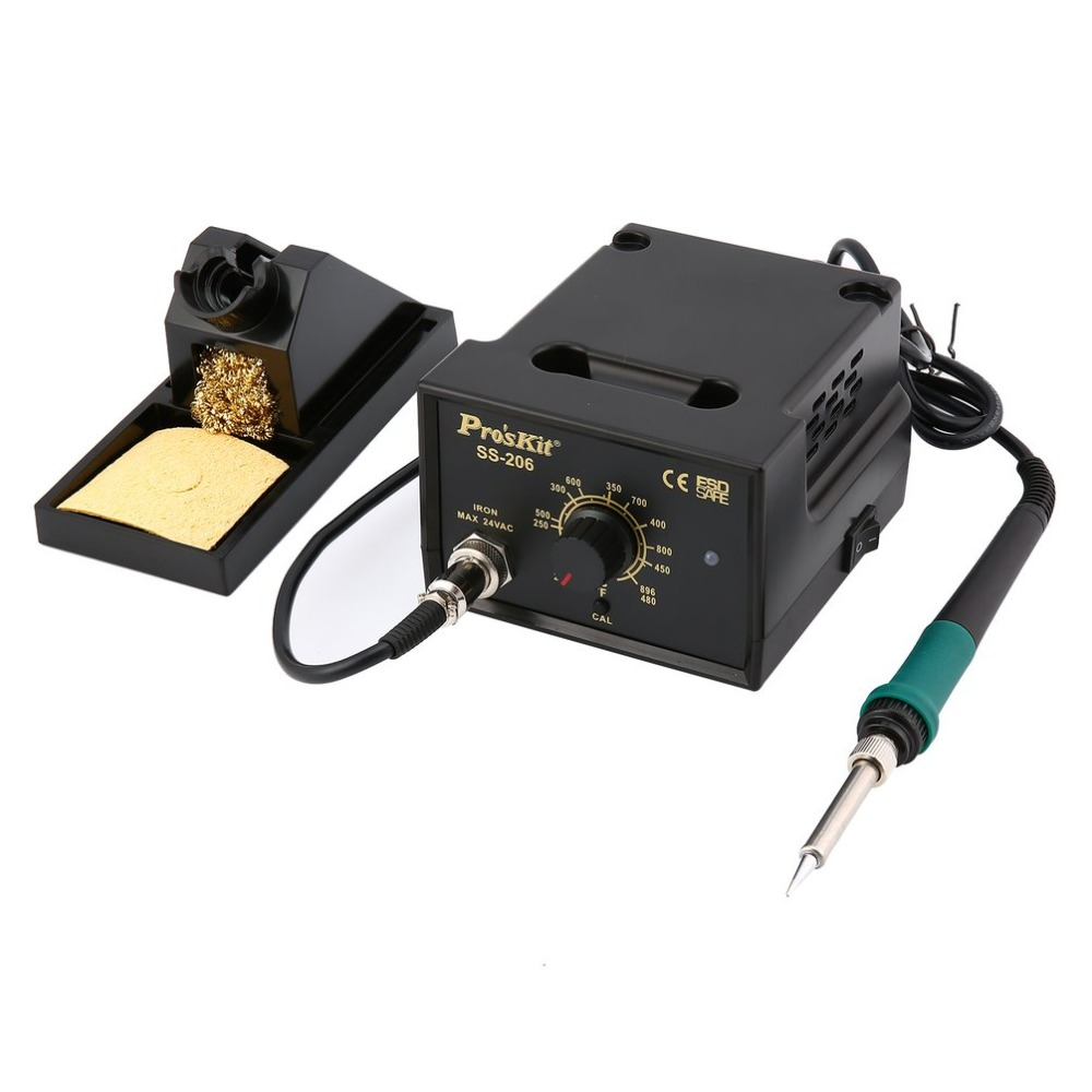 Soldering Station SS-206H 60w 200-480C 110v 220v Temperature Adjustable Electric Solder Iron Repair Tool StandSoldering Station SS-206H 60w 200-480C 110v 220v Temperature Adjustable Electric Solder Iron Repair Tool Stand