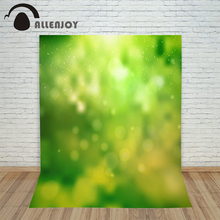 New year photo studio backgrounds Blur of green spring light free shipping by UPS photo camera send rolled
