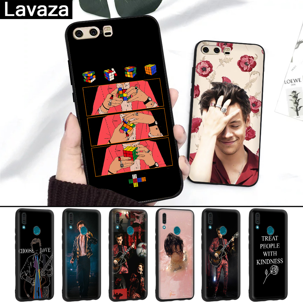 Lavaza Harry Styles tattoos Silicone Case for Huawei P8 Lite 2015 2017 P9 2016 Mini P10 P20 Pro P Smart 2019 P30 in Fitted Cases from Cellphones Telecommunications
