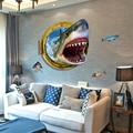 Fierce Shark 3D Wall Sticker PVC Material Modern DIY Home Decor Wall Art for Kids Rooms Living Room Decorative Sticker