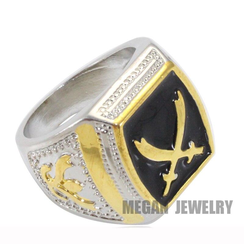 muslim Zulfiqar Sword of Imam Ali ring , Islam Retro fashion Arab jewelry & gift