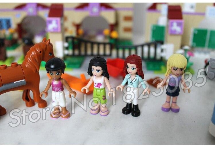 1118 шт. друзья Heartlake летний лагерь для верховой езды 10170 лошади Чемпион Солнце фигура Строительные блоки игрушки совместимы с LegoING - 2