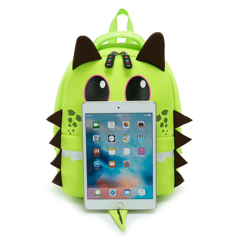 136f054b88c Children School Bag Cartoon Big Eyes Monster Model Waterproof Neoprene  Fabric For Toddler Boys Kindergarten Kids School Backpack-in School Bags  from Luggage ...