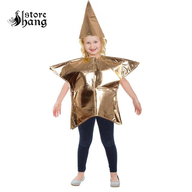 Los niños estrella de oro traje vestido de lujo de oro niños cinco ...