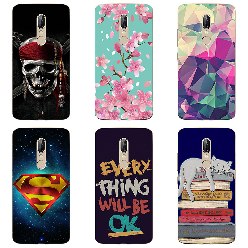 soft tpu phone case colour Mobile phone shell For ZTE AXON 7S <font><b>A2018</b></font> Soft silicon Phone Case colorful painting skin shell image