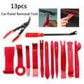 Novo 13 pçs pry ferramenta de desmontagem interior da porta clipe painel guarnição painel ferramenta de remoção de abertura do carro ferramenta de reparo de mão kit