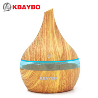 300 Aroma Humidifier Aromatherapy Wood Grain 7 Color LED Lights Electric Aromatherapy Essential Oil Aroma Diffuser