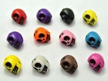 100 смешанных цветов акриловые Хэллоуин готический череп бусины