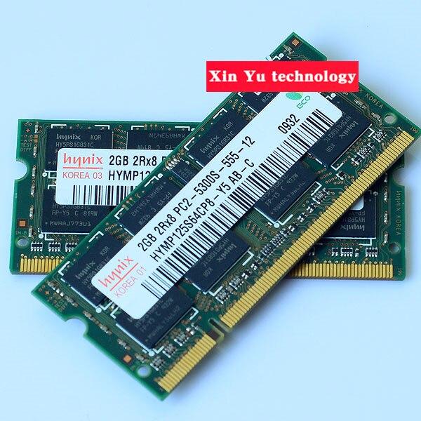 Пожизненная гарантия для hynix DDR2 2GB 667MHz PC2-5300S оригинальный аутентичный DDR 2 2G ноутбук память ноутбук RAM 200PIN SODIMM
