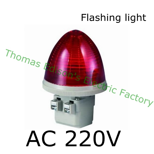 DMWD AC 220V 2 Screw Terminals Red LED flashing light Industrial Signal Light Tower Lamp S-TX-F indicator light волков а м владимирский л в огненный бог марранов