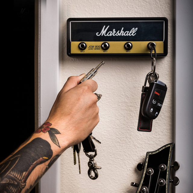 Marshall Key Holder Rock Electric Guitar speaker key hanging Key hook Storage Keychain Vintage  JCM800  1959SLP BULLET GP69