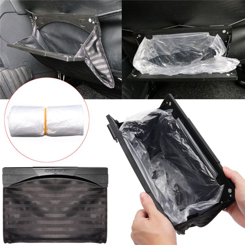 1 Pcs Black Car Seat Back Foldable Garbage Storage Bag Trave
