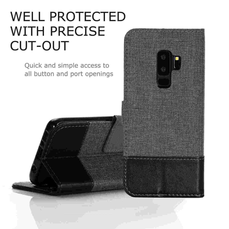 Куртка из джинсовой ткани + кожаный чехол-бумажник для samsung Galaxy S9 плюс S10 S10E Note 9 8 10 A20 A30 A40 A50 A70 M20 M10 чехлы для телефонов