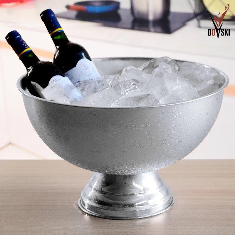 2018 Doski Ciotola Forma di Secchiello del Ghiaccio Secchiello da Champagne Grande Whisky Birra Vino di Raffreddamento Bere Chiller Ice Cubes Contenitore Bottiglie Holder