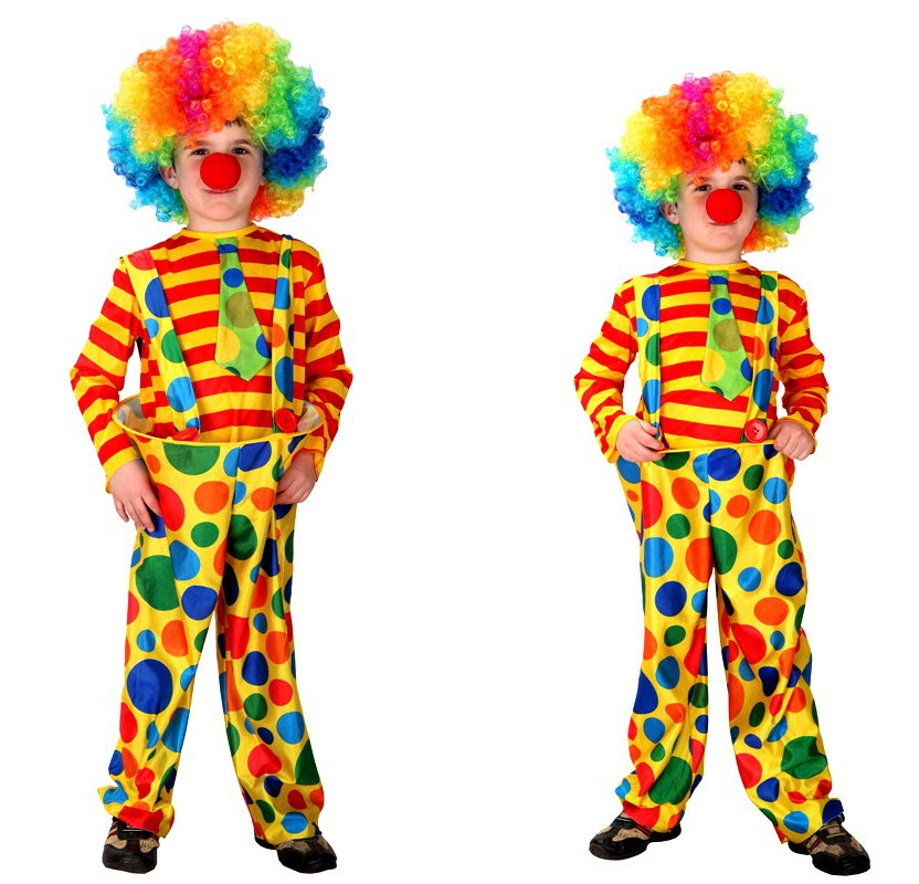 Clown Costume Set Child Cute Halloween Costume for Kids Carnival Funny Boys Girls  Masquerade Cosplay Suit Party Dress Up hand spinner harry potter