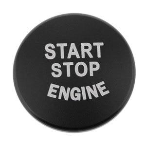 Image 4 - 1 Uds. Botón de arranque de motor de coche, accesorios de interruptor de parada de cubierta para BMW 1 2 3 4 Series F30 F20 F32 X1 F48 F45 Etc aluminio