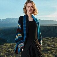 100% кашемировые свитера Для женщин Cargigan темно свитер Открыть стежка синий натуральная ткань дополнительные мягкие теплые высокое качество