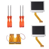 4Pcs Set LCD Screen Backlight Kit Repalcement Parts With 32 40 Pin Cable For Nintendo For