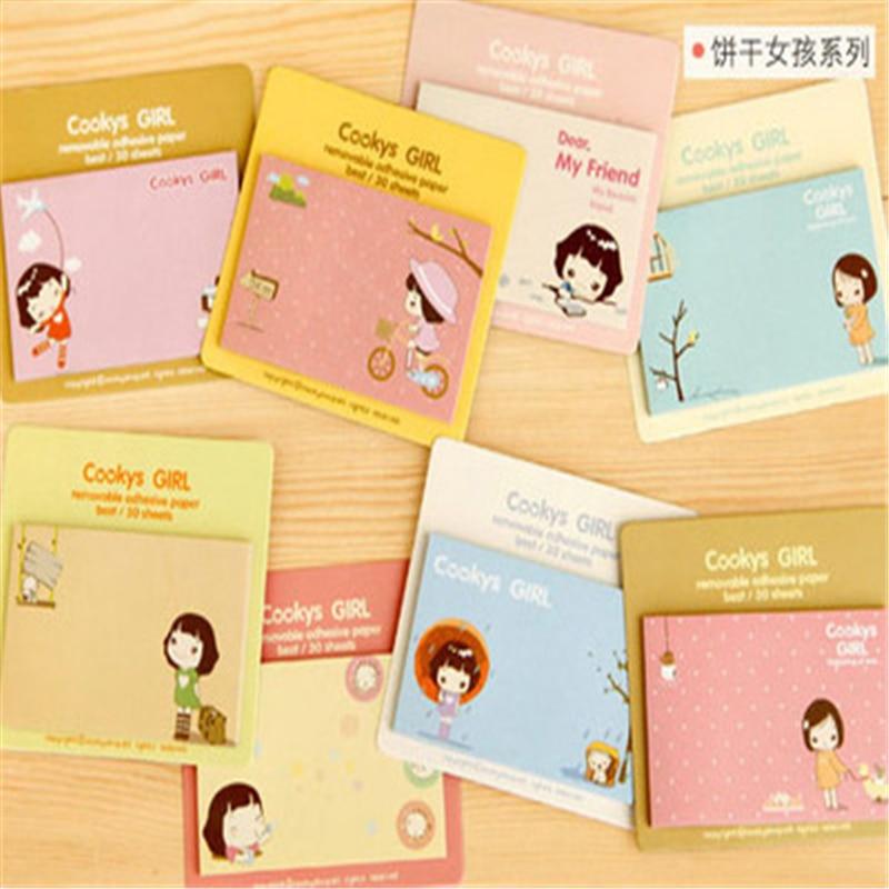 DL JB22 Korean stationery cute little yellow duck Notepad