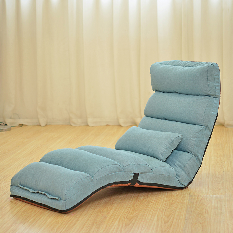 Floor Folding Chaise Lounge Chair Modern Fashion 6 Color Living Room  Comfort Daybed Lazy Reclining Upholstered