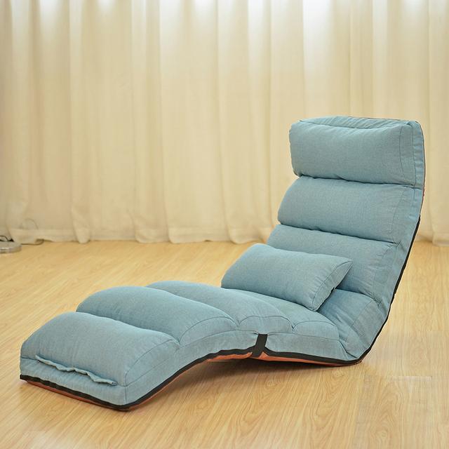 Piso Dobrável Cadeira Chaise Lounge Moderno Moda 6 Cor Sala Conforto Preguiçoso Sofá Reclinável Estofados Sofá Cama