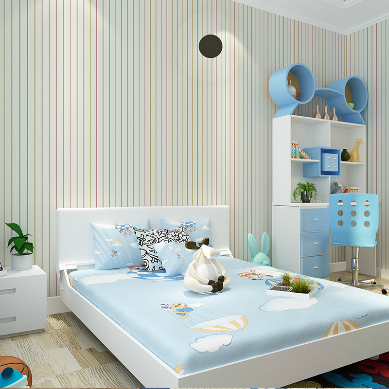 simple background living bedroom decoration vertical beibehang striped 3d tv wallpapers