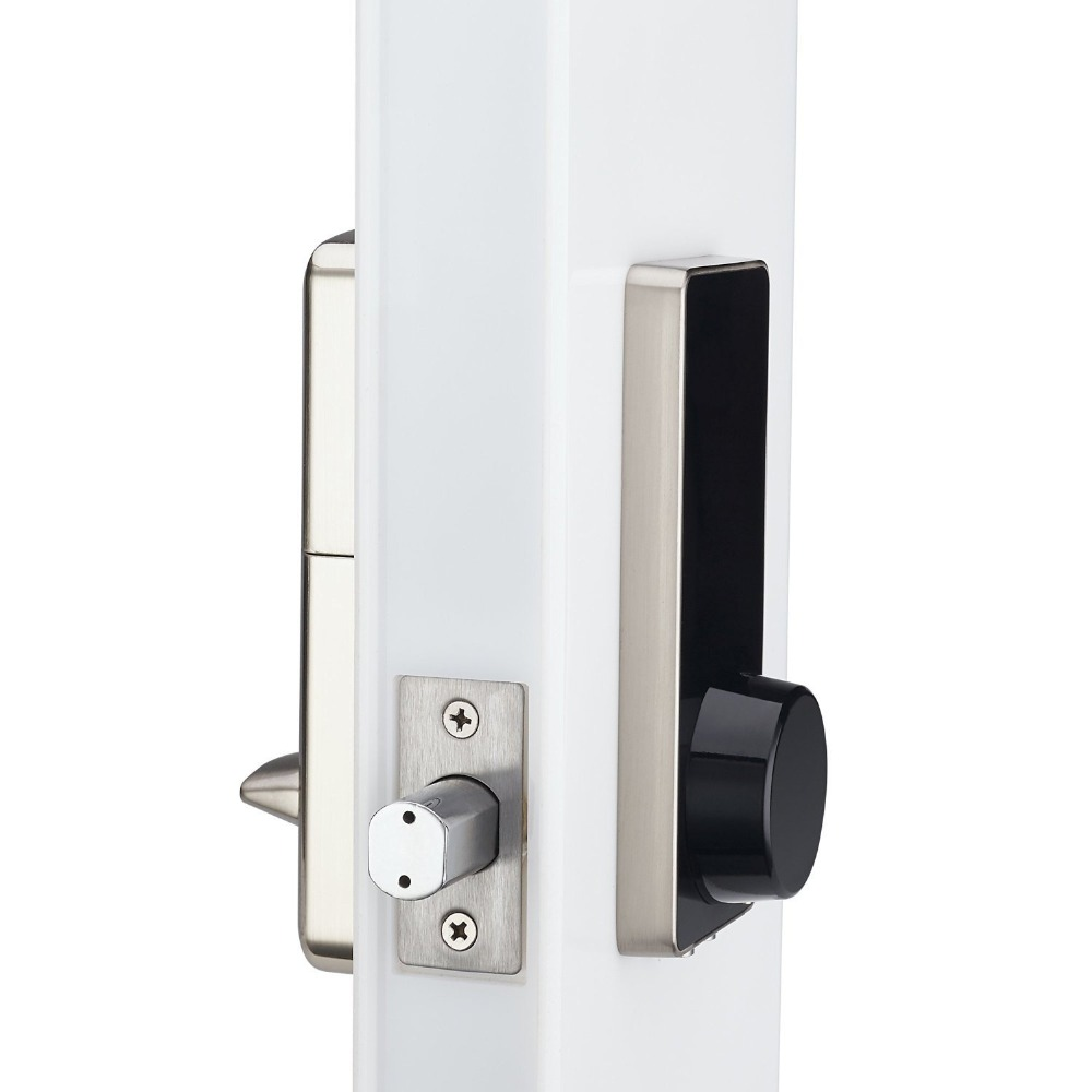 door lock and key black and white. OS8815BLE BT Electronic Keyless Back-lighted Keypad Door Lock Unlock With Bluetooth, Code Or And Key Black White Y