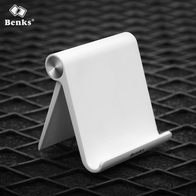 Benks Universal Flexible Phone Desk Holder for iPhone Samsung Xiaomi Huawei Mobile Cellphone and Tablet Portable V-shape Stand