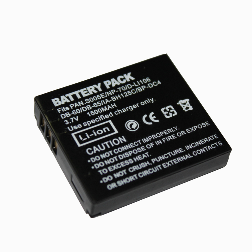 1500mAh DMW-BCC12 CGA-S005E DB60 NP70 Rechargeable Camera Battery For Panasonic <font><b>Lumix</b></font> DMC-FX180 DMC-LX1 DMC-LX2 <font><b>LX3</b></font> FS1 FS2 FX01 image