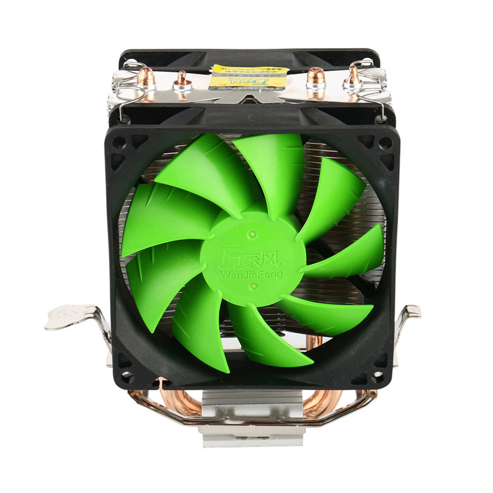 New Arrival Dual Fan CPU Quiet Cooler Heatsink for Intel LGA775/1156 AMD 95W SPCA jetting new dual fan cpu quiet cooler heatsink for intel lga775 1156 amd 95w spca