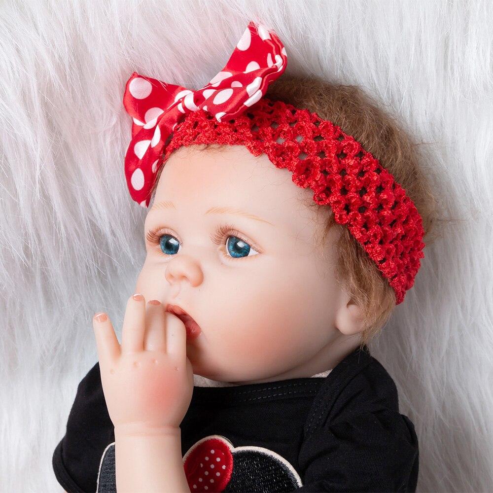 Nouvelle fille jouets 55cm Silicone souple Reborn poupées Surprises cadeaux bébé réaliste poupée Reborn vinyle Boneca Reborn poupée pour les filles - 3