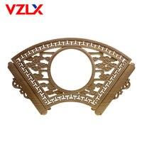 VZLX вентилятор рамки фото деревянные резные аппликация кабинет мебель украшения аксессуары корпус двери Винтаж Домашний Декор ремесла