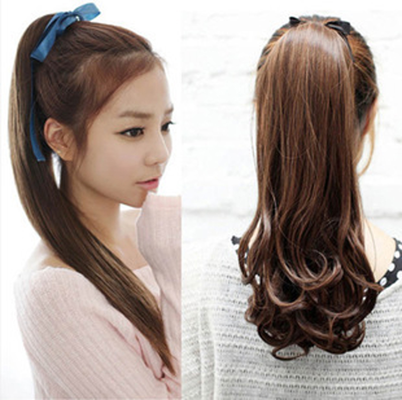 New Fashion Synthetic Long Wavy Ponytail Women Sexy Hair Extension