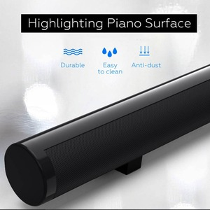 Image 4 - TV Soundbar Bluetooth Speaker Wireless Stylish Fabric Sound Bar Hifi 3D Stereo Surround Support RCA AUX HDMI For Home Theater