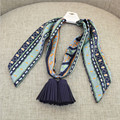 [Ode To Joy]Women cotton long scarf print warm soft casual shawls with tassel necktie spring summer good quality factory price