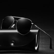 2019 Classic Hot Elastic Support Leg Aviation Metal Sunglasses Men Polarized UV400 Protector Drivers Car