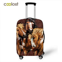cute animal horse / lion / dog / cat print luggage cover Travel Accessories elastic suitcase cover anti-dust trolley case covers(China)