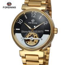 FSG8070M4G4 Forsining марка мужские Автоматические самостоятельно ветер платье мода скелет часы с аналоговым подарочная коробка бесплатная доставка