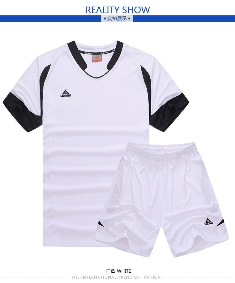 c70b9c4bd9904 LIDONG verano niño fútbol entrenamiento traje niños fútbol Jersey ...