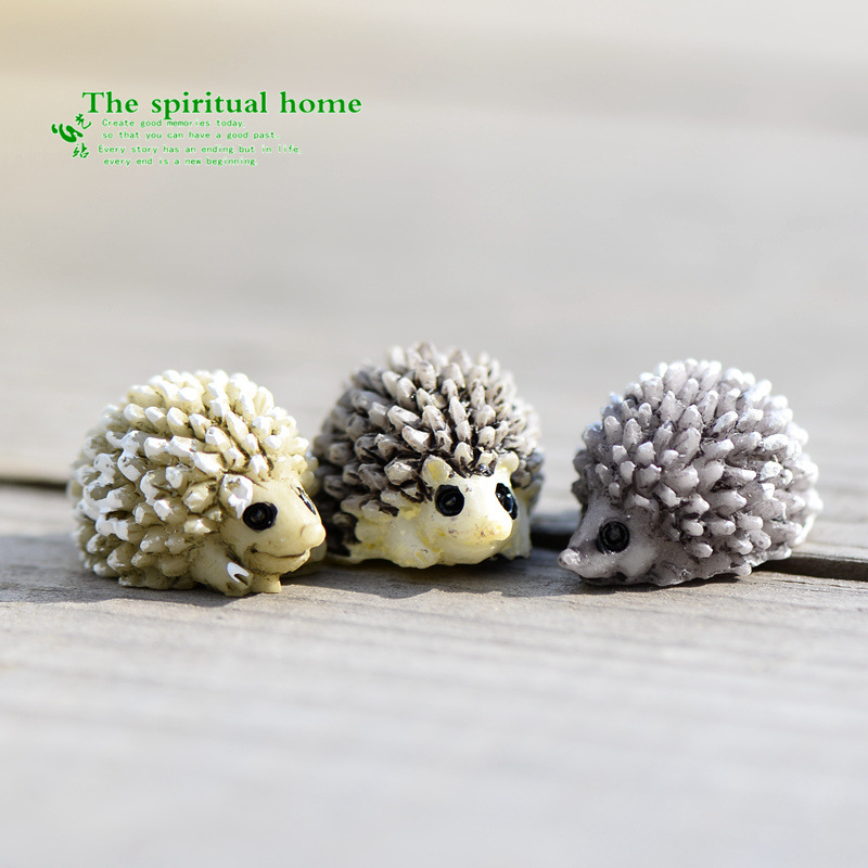Aliexpresscom Buy Resin Mini Hedgehog Resin Miniature Figurines