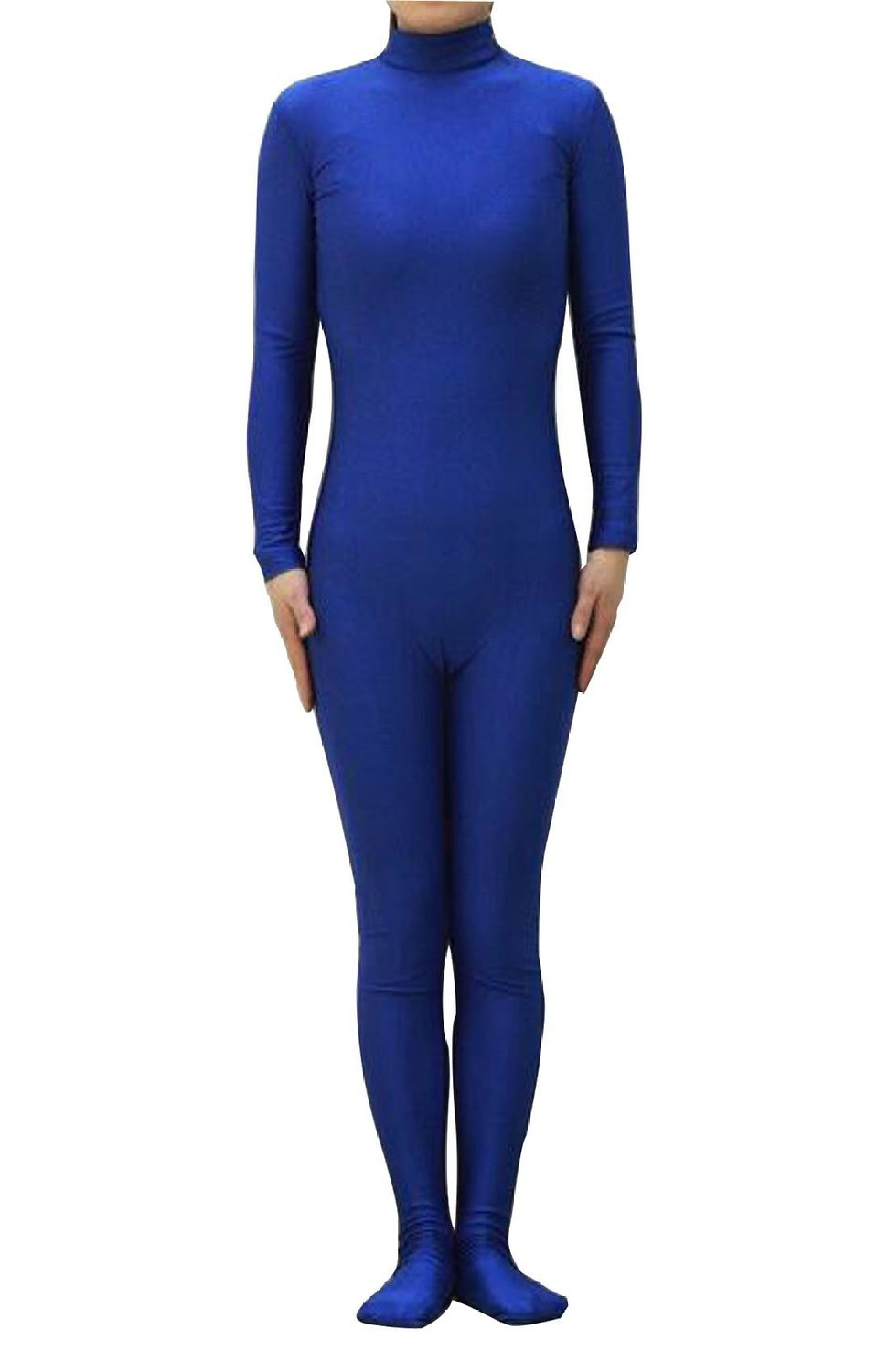Blue <font><b>Sexy</b></font> Unisex <font><b>Lycra</b></font> Spandex Zentai Dancewear <font><b>Catsuit</b></font> without Hood Halloween Party Cosplay Zentai suit image