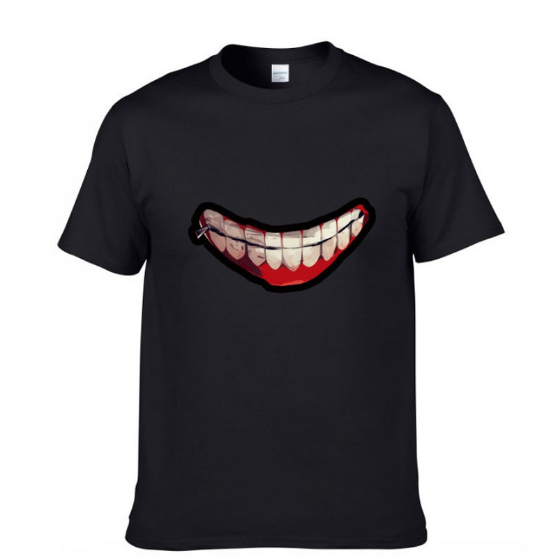 Tokyo Ghoul summer tops tees printing t-shirt short sleeve casual tshirt plus size mens 100% cotton t shirt streetwear t-shirt