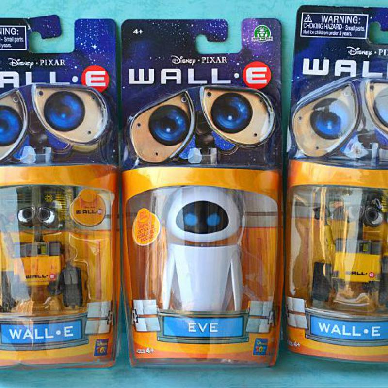 Hot Cute 3 Styles 6cm Wall-E Robot & 9cm EVE PVC Action Figure Wall E Collection Model Toys Dolls for children gifts