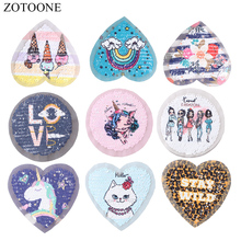 ZOTOONE Reversible Sequin Embroidery Unicorn Letter Custom Patch Applique Flower Patches for Clothing Decoration E
